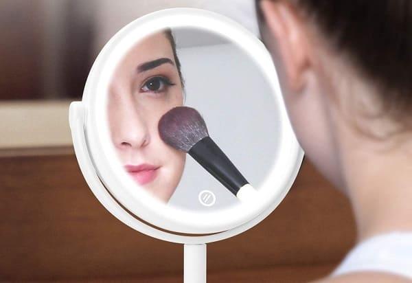 espejos de maquillaje con luz