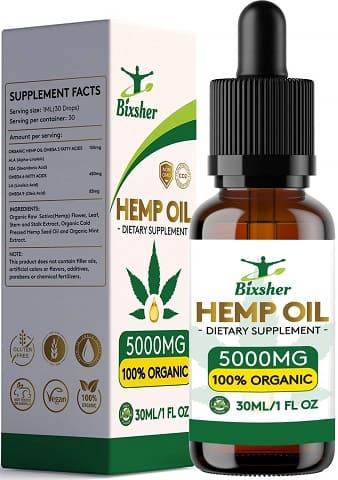 gotas de aceite de semilla de cañamo